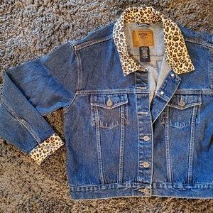 Route 66 cotton button up leopard print jacket